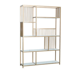 China Eco Friendly Material Shop Display Showcase Single Side Shelf 4 Layer Stable Structure supplier