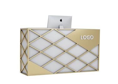 China Nordic Style Reception Desk Display Case Custom Logo For Bar / Beauty Salon supplier