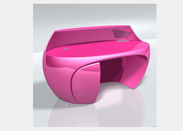 China Pink / Green Beauty Salon Reception Desk , Exquisite Durable Retail Reception Desk factory