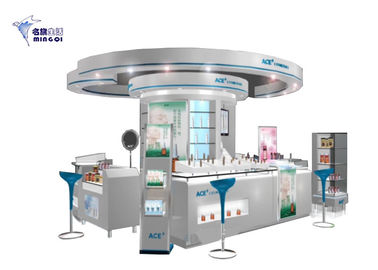 Fashionable Cosmetic Store Furniture Kiosk Customized Non Toxic Material