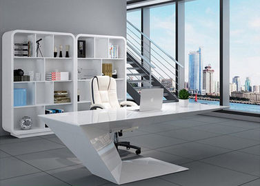 China Elegant Manager Office Furniture Creative Special Shape With White Baking Paint factory