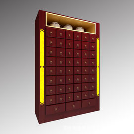Traditional Medicine Chinese Pharmacy Store Display Rack With Non Toxic Wood Materials