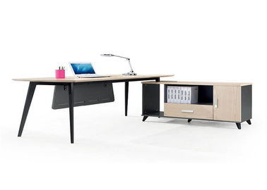 China Simple Practical Modern Office Furniture , Boss Office Desk Smooth Lines Strong Durable factory