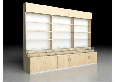 China Beautiful Practical Pharmacy Display Racks For Health Care Products / Western Drug factory
