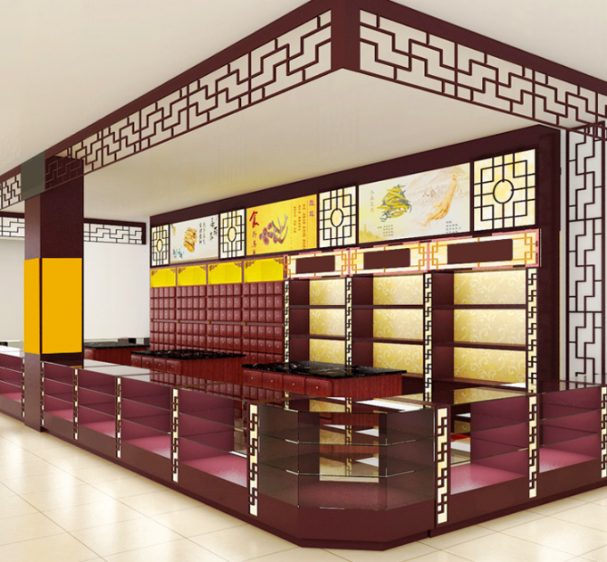 Delicate Chinese Pharmacy Store Display Metal Material Various Shapes Available